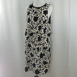 Black-and-white loft floral dress size 10
